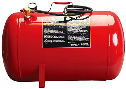 "BIG RED T88007 Torin Portable Horizontal Air Tank with 36"" Hose, 7 Gallon Capacity, Red"