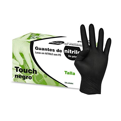 Kiepe Gants Nitrile Touch Noir, Grand – Lot de 100