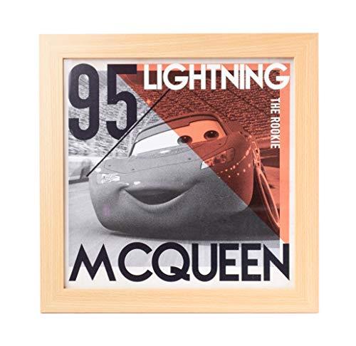 Grupo Erik Cuadro Infantil Disney Cars Lightning, Rayo Mcqueen, 30x30 cm