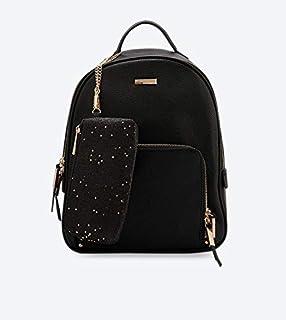 ALDO Zip Closure Eralessi Backpack - Black