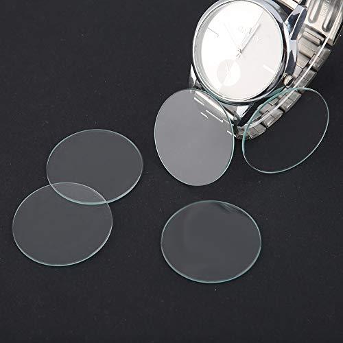 Cristal de reloj plano, lente de reloj resistente a arañazos Lente de reloj, para reparación de relojes(38mm)
