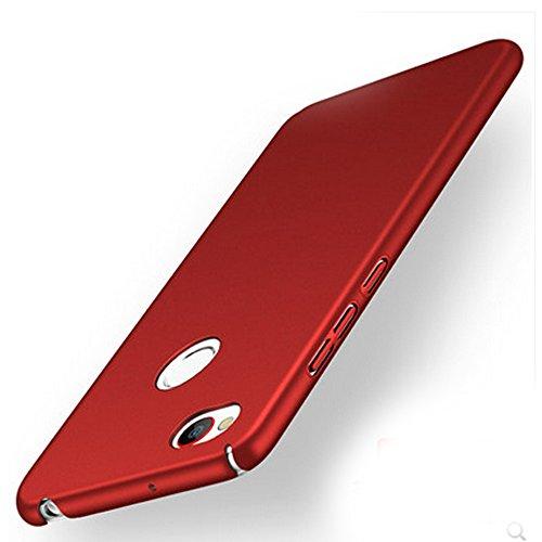UKDANDANWEI ZTE Nubia Z11 Mini S Hülle,extrem schlicht-dünn-Leichte PC Handy Schutzhülle für ZTE Nubia Z11 Mini S - weinrot