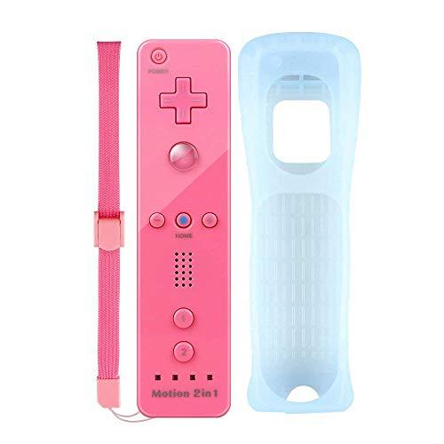 COOLEAD Motion Plus Remote Game Controller per Wii e Wii U Motion Plus Telecomando Remoto Controller per Wii e Wii U con Custodia in Silicone e Cinturino da Polso