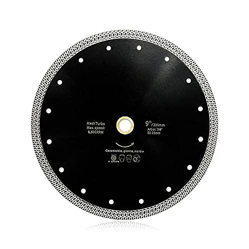 1pc 4/4.5/5/6/7 / 9 pulgadas Malla de hot sintered Turbo Diamond Saw Blade Diamond Disco de corte de diamante para granito de mármol de cerámica-230mm
