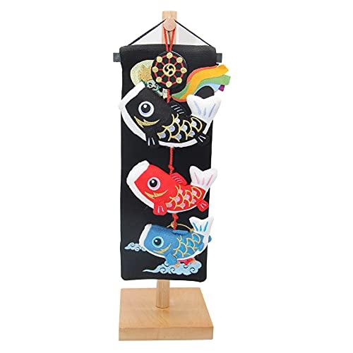 つるし飾り 室内 鯉のぼり ふわふわ こいのぼり 40cm 室内鯉飾り 天然木製台付 コンパクト ミニミニ 端午の吊るし飾り ちりめん かわいい 吊り飾り 雨の日も安心 人気の鯉のぼり室内飾り