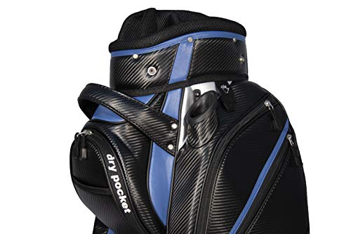 Bolsa de golf con motor, material impermeable con dry pocket, color negro y...