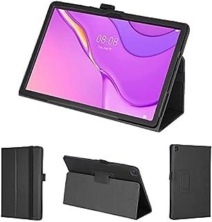 wisers 保護フィルム・タッチペン付 MatePad T10s AGS3-W09 10.1 インチ Huawei ファーウェイ タブレット ケース カバー [2021 年 新型] ブラック