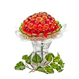 Gummibärchenzauber Blumenstrauß 'Rose' | Gummibärchenstrauss aus zwei Sorten Fruchtgummi | Gummibären Blumen als Geschenk | Suessigkeiten Strauss für Valentinstag | valentines day gift | 360g