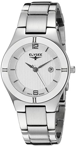 Elysee Damen Armbanduhr Myra Edelstahl Keramik Lünette 33042