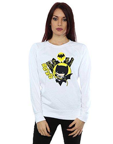 DC Comics Damen Chibi Batman Swinging Sweatshirt XX-Large Weiß