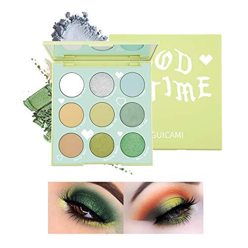 Mimore Paleta de sombra de ojos de 9 colores, polvo de sombra de ojos de maquillaje mate natural ultra pigmentado, paleta de polvo de sombra de ojos profesional impermeable(01)