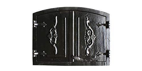 QLS Ofentür Brotofentür Holzofentür Ofen Gußeisen Steinofentür Tür 55 x 41 cm