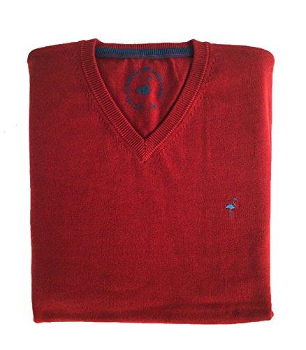 EL FLAMENCO Basico Jersey, Rojo, Medium (Tamaño del Fabricante:3M) para Hombre