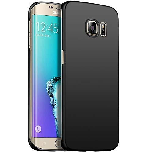N+A Amosry Funda Samsung Galaxy S6 Edge Plus,Absorción de Golpes Anti-Rasguños PC Esmerilado Funda Protectora para,Mate para Samsung Galaxy S6 Edge Plus (Negro)