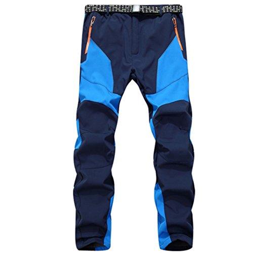 Pantalones de Trekking Hombre Pantalones de Softshell Pantalones Transpirable de Escalada Pantalones Impermeable Deportes Calentar Invierno Grueso Táctico Pantalones Xinan (XL, ❤️Azúl)