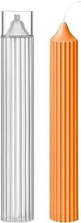 O-Kinee Moule pour Bougies 3D, Moule Cylindrique en Plastique Transparent pour Bougies, pour Bougies, Savon, Partie Décora...