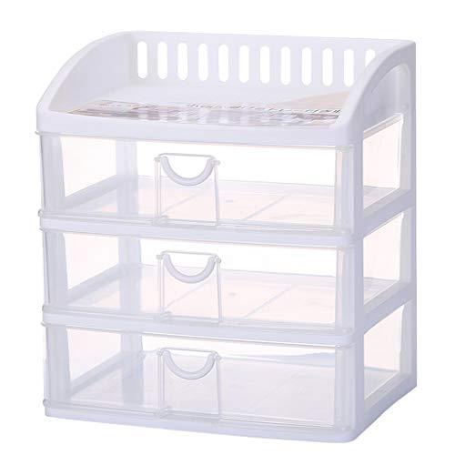 Boîte de Rangement cosmétique Transparente en Plastique Type de tiroir de Bureau Rouge à lèvres Bijoux Produits de Soin de la Peau Boîte de Stockage Affichage FANJIANI (Size : 34 * 25 * 39cm)