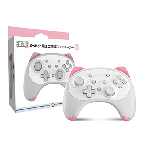 Cartoon Kitten Wireless Controller para Nintendo Switch / Lite, Cute Switch Controller Joypad Gamepad para Nintendo Switch Admite Wake-up, Turbo, Gyro Axis, Dual Shock