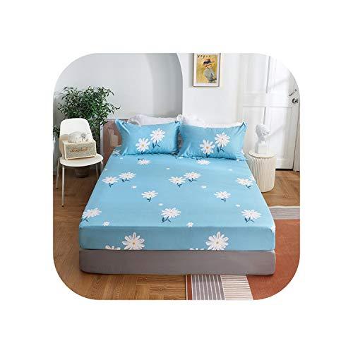 Star Harbor Bettgarnitur |2020 1 Stück Baumwolldruck Bettmatratze Set mit Vier Ecken und elastischen Bandblättern-chuju-90X200X25cm