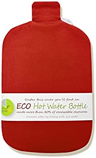Hugo Frosch 2L Classic ECO Hot Water Bottle with Cover Highest Quality - Made in Germany (Red)