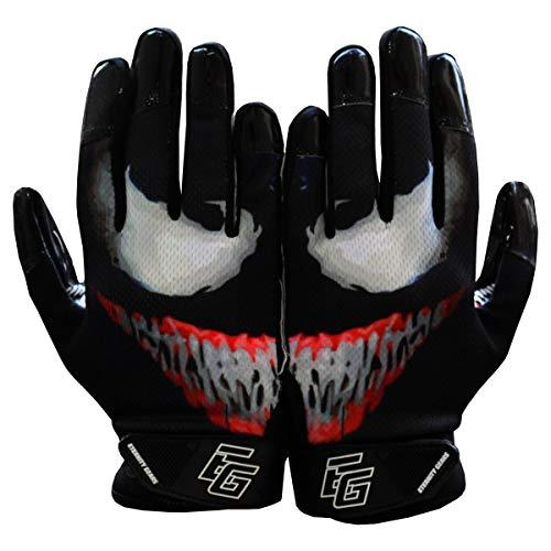 Eternity Gears Venom Football Gloves Tacky Grip Skin Tight Adult Football Gloves Enhanced Performance Football Gloves Men Pro Elite Super Sticky Receiver Football Gloves Adult Sizes (Medium)