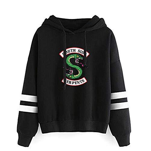 WAWNI Riverdale Sud Lato Serpenti Stampato Felpe con Cappuccio Moda Donna/Uomini Manica Lunga Felpa Con Cappuccio Moda Streetwear Vestiti 5 L