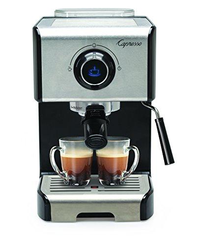 Capresso EC300 Cappuccino Espresso Machine, 42, Stainless Steel/Black