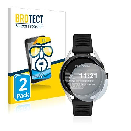 BROTECT Schutzfolie kompatibel mit Emporio Armani Connected Smartwatch 3 (2 Stück) klare Bildschirmschutz-Folie