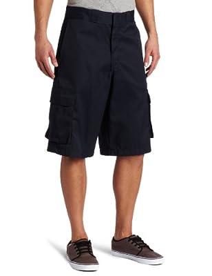 Dickies Men's Big 13 Inch Loose Fit Twill Cargo Short, Dark Navy, 46