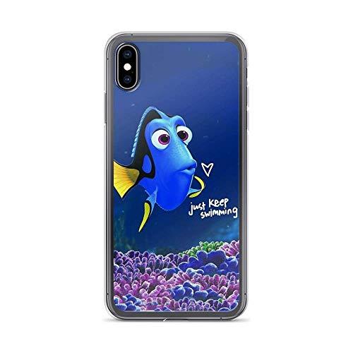 Compatible con iPhone 11 6/6s Funda para encontrar a Dory Cita Mantener Natación Peces Vida Mar Animada Película Pure Clear Teléfono Carcasas