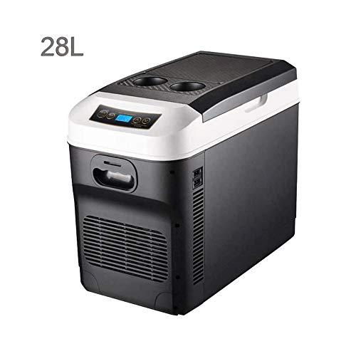 Mini nevera, refrigerador del coche, coche de refrigerador del compresor, refrigerador del refrigerador y calentador de 24V / 12V / 220-240 (28L) que acampa portable Frigorífico de larga distancia de