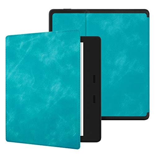 Estuche Ayotu Skin Touch Feeling para el Kindle Oasis (10ª generación, versión 2019 y 9ª generación, versión 2017), con activación/suspensión automática, Impermeable,KO Serie Soft Shell The Blue