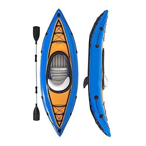 Gaoweipeng Singola Persone Kayak Gonfiabile, Conveniente Gommoni Gonfiabili Collassabile Canoa Stabilità Comfort Canotto Excursion Sicurezza Hydro-Force Barche con I Remi