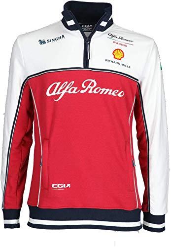 FCA Alfa Romeo Felpa Tecnica Racing F1 in Cotone e Poliestere Taglia M Originale 6002350723