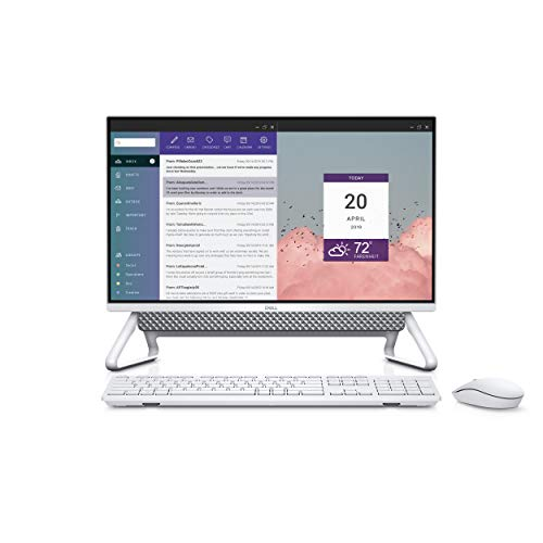 Dell Inspiron 5490 23.8-Inch FHD Anti-Glare Narrow Border All-In-One (Silver) Intel Core i5-10210U, 8 GB RAM, 512 GB SSD + 1 TB HDD, Windows 10 Home