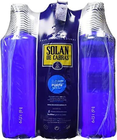 Agua Mineral Solan de Cabras 6x1,5L (Pack 6 Botellas)