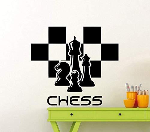 Graz Design - Adhesivo decorativo para pared (58 x 63 cm), diseño de ajedrez