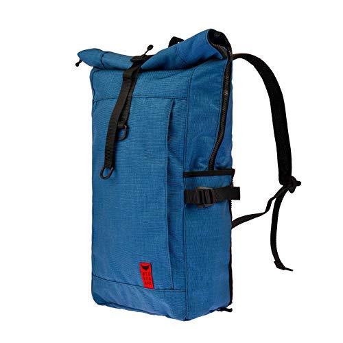 Red Rebane Gepäckträgerrucksack Purist Plus - Blau - Fahrradrucksack und Fahrradtasche in einem - funktional, schick & hochwertig - Gepäckträgertasche Handmade in Germany