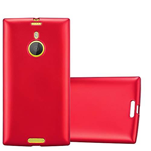 Cadorabo Hülle für Nokia Lumia 1520 in METALLIC ROT - Handyhülle aus flexiblem TPU Silikon - Silikonhülle Schutzhülle Ultra Slim Soft Back Cover Hülle Bumper