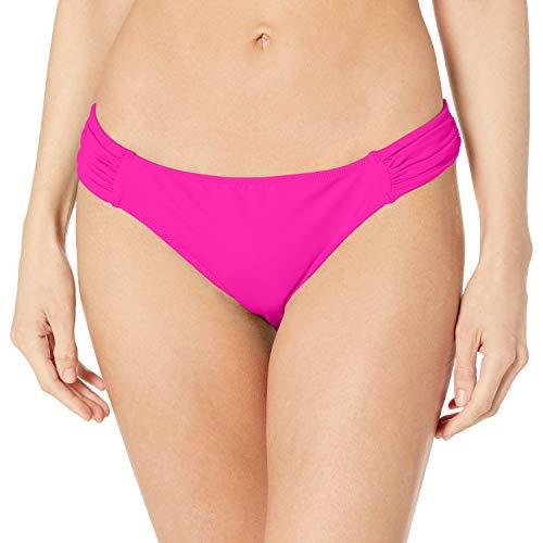 Smart & Sexy Women's Swim Secret Side Ruched Bikini Bottom, Fuchsia Sizzle, XL