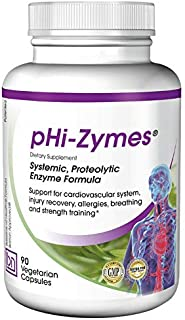 Baseline Nutritionals pHi-Zymes (Systemic Proteolytic Enzymes) 90 Count for Inflammation Support, Cardiovascular Health