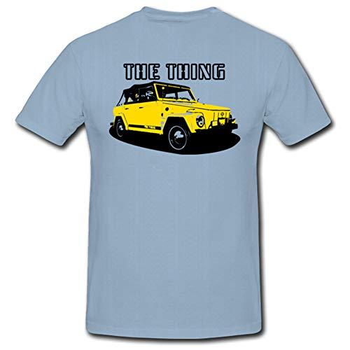 Kübelwagen 181 Wh Cabriolet Offen Militärwagen 2WK Gelände - T Shirt #728, Größe:L, Farbe:Hellblau