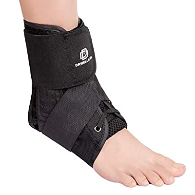 Dr. Welland Ankle Brace, with Adjustable Figure 8 Straps, Breathable Material, Quick Lace Up & Inversion/Reversion Control, Ankle Support Brace Stabilizer for Sprained Ankle, Left and Right Foot