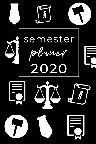 Semester Planer 2020: A5 Studienplaner 2020 - Terminplaner - Studium Planer - Universität Zubehör - Semesterplaner - Jahresplaner - Geschenkidee für Studenten - Studentenkalender