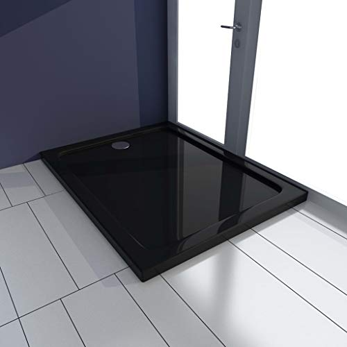 VIENDADPOW Plato de Ducha ABS Negro 70x100 cm