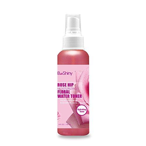 Hagebutte Moisturizing Blumenwasser 120ml Gesichtswasser Spray .Toner für Gesicht Mitesser Fights & reduziert Porengröße, Dringt tief Akne an der Quelle zu bekämpfen