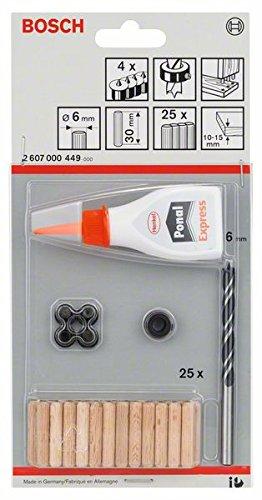 Bosch Professional 32tlg. Holzdübel-Set (Ø 6 mm)