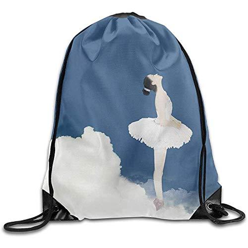 Cinch Bags Mochila con cordón para ballet, niña, con cordón, para entrenamiento, gimnasio, cincha, saco, con cordón