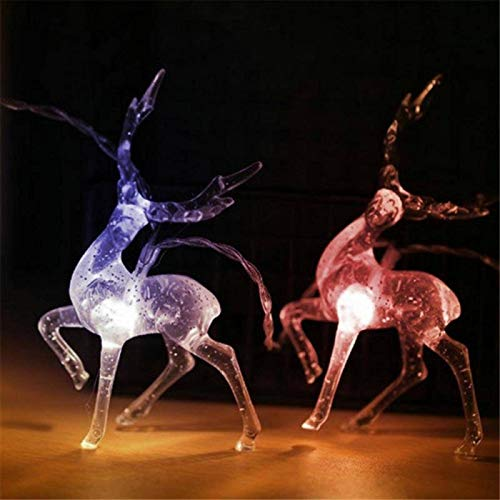 None/Brand 1.2/5M String Light 10/20/40 LED Sika Deer String Christmas Day Elk-Shaped Deer Christmas Decoration Light