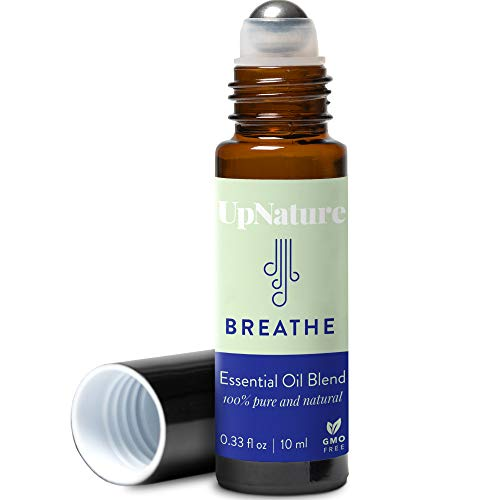 Breathe Essential Oil Roll On Blend- Allergy Relief & Sinus Relief - Breathe Easy Essential Oil with Eucalyptus Essential Oil, Peppermint, Tea Tree & Lemon Pure Therapeutic Grade Essential Oils